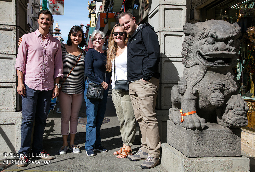 Trey, Emma, Courtney, Kate, and Matt in Chinatown
