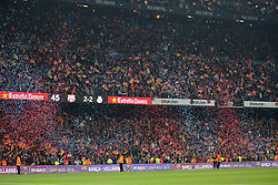 May 6, 2018 - Barcelona, Spain - Fc Barcelona supporters celebration at the end of the match between FC Barcelona and Real Madrid CF, played at the Camp Nou Stadium on 06th May 2018 in Barcelona, Spain.  Photo: Joan Valls/Urbanandsport /NurPhoto. (Credit Image: © Joan Valls/NurPhoto via ZUMA Press)