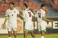 (L to R) Javad Nekounam (IRI), Gholamreza Enayati (IRI), Ali Badavi (IRI), AUGUST 6, 2004 - ƒTƒbƒJ[/Football : AFC ASIAN CUP CHINA 2004, 3 & 4 Placing match between Iran 4-2 Bahrain at Beijing Workers Stadium , Beijing, Chin <br /> (Photo by /AFLO/Digitalsport) <br /> Norway only