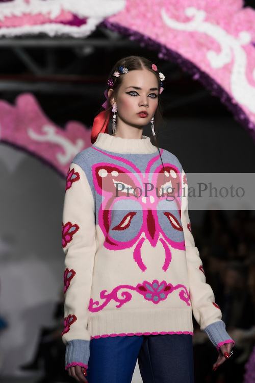 London Fashion Week AW16 <br /> Ryan LO<br /> Born in Hong Kong, Ryan Lo spent a significant part of his formative years in London, where he attended university, discovered his loves and hates, and met amazing individuals. <br /> <br /> Romantic fantasy is the consistent theme in the life and work of Ryan. Drawing inspirations from current pop culture and childhood nostalgia, Ryan crafts his designs with an unconventional DIY approach having taught himself  to knit from YouTube tutorials. Since launching his label he has also acquired a new level of sophistication, yet his rule breaking, maximalist sensibilities still see him send an unexpectedly modern wardrobe down the runway. <br /> <br /> Perseverance and self-belief finally prevail, with his love for all things dreamy, Ryan is riding high on the seas of change to prove he's a force to be reckoned with.