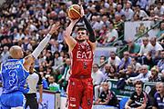 DESCRIZIONE : Campionato 2014/15 Dinamo Banco di Sardegna Sassari - Olimpia EA7 Emporio Armani Milano Playoff Semifinale Gara3<br /> GIOCATORE : Alessandro Gentile<br /> CATEGORIA : Tiro Tre Punti Three Point<br /> SQUADRA : Olimpia EA7 Emporio Armani Milano<br /> EVENTO : LegaBasket Serie A Beko 2014/2015 Playoff Semifinale Gara3<br /> GARA : Dinamo Banco di Sardegna Sassari - Olimpia EA7 Emporio Armani Milano Gara4<br /> DATA : 02/06/2015<br /> SPORT : Pallacanestro <br /> AUTORE : Agenzia Ciamillo-Castoria/L.Canu