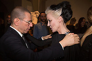 JONATHAN NEWHOUSE; DAPHNE GUINNESS, Isabella Blow: Fashion Galore! private view, Somerset House. London. 19 November 2013
