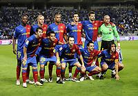 Fotball<br /> Spania<br /> Foto: imago/Digitalsport<br /> NORWAY ONLY<br /> <br /> 27.09.2008  <br /> <br /> Mannschaftsfoto FC Barcelona,hi.v.li.: Eric Abidal, Eidur Gudjohnsen, Thierry Henry, Sergio Busquets, Gerard Pique, Torwart Victor Valdes, vorn: Lionel Messi, Dani Alves, Andres Iniesta, Xavi Hernandez, Carles Puyol<br /> <br /> Lagbilde Barcelona