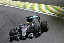 Lewis Hamilton (GBR) Mercedes AMG F1  <br /> 11.11.2016. Formula 1 World Championship, Rd 20, Brazilian Grand Prix, Sao Paulo, Brazil, Practice Day.<br /> Copyright: Charniaux / XPB Images / action press
