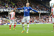 Ross Barkley of Everton reacts to missing a chance. Premier league match, Everton v Stoke city at Goodison Park in Liverpool, Merseyside on Saturday 27th August 2016.<br /> pic by Chris Stading, Andrew Orchard sports photography.