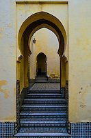 Morocco. The mausoleum of Moulay Ismail in Meknes. Portal shaped as a keyhole.