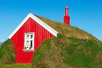 Islande, fjord de l Est, Borgarfjordur, ancienne ferme a Bakkagerdi // Iceland, Esatfjord, Borgarfjordur, old traditional farm