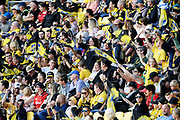 Hurricanes fans in the Super Rugby match, Hurricanes v Crusaders, Sky Stadium, Wellington, Sunday, April 11, 2021. Copyright photo: Kerry Marshall / www.photosport.nz