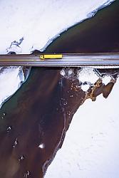 THEMENBILD - ein Lastkraftwagen auf einer Brücke über den Mjosa-See, aufgenommen am 12. Maerz 2019 in Lillehammer, Norwegen // a truck driving on a bridge over the Lake Mjosa , Lillehammer, Norway on 2018/03/12. EXPA Pictures © 2019, PhotoCredit: EXPA/ JFK