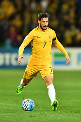 September 5, 2017 - Melbourne, Victoria, Australia - MATHEW LECKIE (7) of Australia controls the ball during the 2018 FIFA World Cup Qualifier match between Australia and Thailand at AAMI Park, Melbourne, Australia. Australia won 2-1 (Credit Image: © Sydney Low via ZUMA Wire)