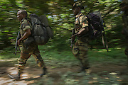 Eco Guards on patrol<br /> African Parks Congo<br /> Mbomo<br /> Odzala - Kokoua National Park<br /> Republic of Congo (Congo - Brazzaville)<br /> AFRICA