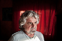 MARINA DI BIBBONA, ITALY - 3 MARCH 2013: Beppe Grillo, founder and leader of the Five Stars Movement, is interviewed in him home in Marina di Bibbona, Italy, on March 2013...The comedian, Beppe Grillo, the leader of the Five Star Movement, rejected an appeal by Pier Luigi Bersani, the leader of Italy's center-left Democratic Party, to work with others to govern the country. Mr. Grillo's Five Star Movement won 25 percent of the vote, becoming the third-largest bloc in Parliament...Gianni Cipriano for The New York Times