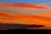 Sunset over grasslands<br /> Grasslands National Park<br /> Saskatchewan<br /> Canada