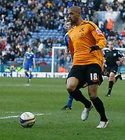 Photo: Steve Bond/Richard Lane Photography. <br />Leicester City v Hull City. Coca Cola Championship. 21/03/2008. Caleb Folan attacks the ball