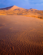 CADMH_103 - USA, California, Mohave National Preserve, Sunset light defines texture of Kelso Dunes.