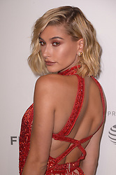 Hailey Baldwin attending the premiere of the movie American Meme during the 2018 Tribeca Film Festival at Spring Studios in New York City, NY, USA on April 27, 2018. Photo by Julien Reynaud/APS-Medias/ABACAPRESS.COM