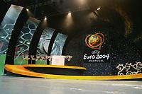 LISBOA-29 NOVEMBRO 2003: PHOTO OPPORTUNITY of the Draw hall,29/11/2003.<br />EURO 2004 Final Draw held 30/11/2003 in Lisbon-Revenue Atlántico/park expo<br />(PHOTO BY: AFCD/NUNO ALEGRIA)