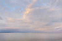 Evening sky over Lake Huron, Mackinaw City Michigan
