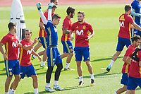 Kepa, and Saul Niguez during the training of the spanish national football team in the city of football of Las Rozas in Madrid, Spain. August 28, 2017. (ALTERPHOTOS/Rodrigo Jimenez)