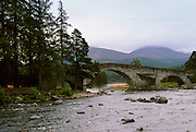 Brig O'Dee bridge over the River Dee in Aberdeenshire, Scotland