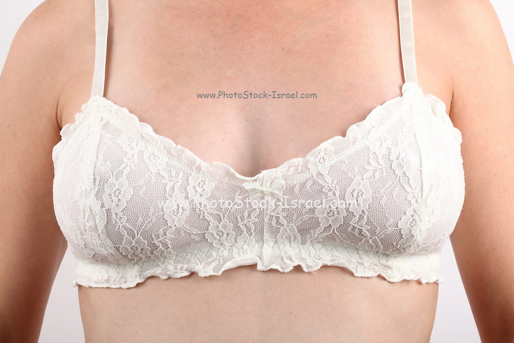 Caucasian Woman with white bra
