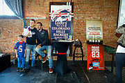 SHOT 12/10/17 12:25:59 PM - Former Buffalo Bills wide receiver and Hall of Fame player Andre Reed signs autographs and meets with fans at LoDo's Bar and Grill in Denver, Co. as the Buffalo Bills played the Indianapolis Colts that Sunday. Reed played wide receiver in the National Football League for 16 seasons, 15 with the Buffalo Bills and one with the Washington Redskins. (Photo by Marc Piscotty / © 2017)