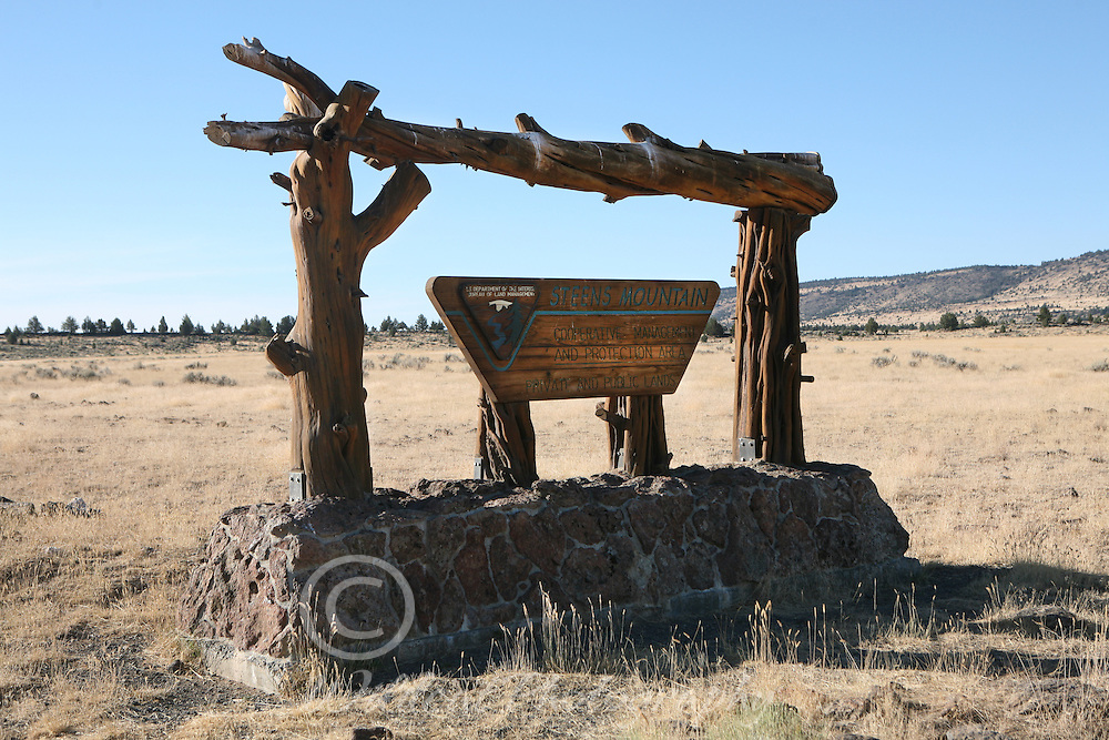 Steens Mountain Sign