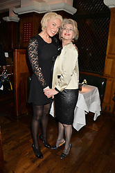 Left to right, HANNAH WADDINGHAM and MAUREEN LIPMAN at One Night Only at The Ivy in aid of Acting For Others supported by Tanqueray No.TEN Gin at The Ivy, 1-5 West Street, London on 1st December 2013.