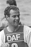 Kingston on Thames, United Kingdom.  Men's Single Scull. Pete SHEPPARD, M1X.  The final Round of the Leyland Daf Sprint series, at Kingston RC on the River Thames, Surrey, England, <br /> <br /> Saturday 04.05.1987<br /> <br /> [Mandatory Credit; Peter Spurrier/Intersport-images] 1987 Leyland Daf Sprints, Kingston. UK
