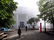 """58th Art Biennale Venice """"May You Live in Interesting Times"""" curated by Ralph Rugoff. International Pavillon, with artificial fog by Lara Favaretto."""