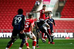 Chris Martin of Bristol City is challenged by Anfernee Dijksteel of Middlesbrough - Rogan/JMP - 20/10/2020 - Ashton Gate Stadium - Bristol, England - Bristol City v Middlesbrough - Sky Bet Championship.