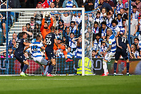 Football - 2021/2022  Sky Bet EFL Championship - Queens Park Rangers vs Millwall - Kiyan Prince Foundation Stadium - Saturday 7th August 2021.<br /> <br /> With only a few seconds left before full time Bartosz Bia?kowski (Millwall FC) plucks he goal bound shot from the air <br /> <br /> COLORSPORT/DANIEL BEARHAM