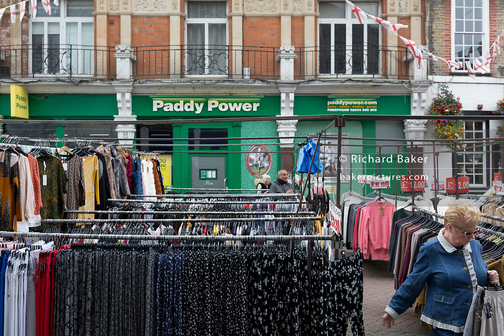 A Paddy Power betting outlet on One Bell Corner in the Kentish town's pedestrianised High Street, on 3rd October 2019, in Dartford, Kent, England. Voters in Dartford voted 64% in favour of Brexit during the 2016 referendum.