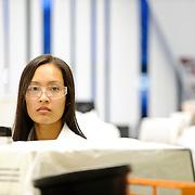 Genzyme a Sanofi Company employee working in a lab.