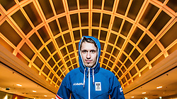 28.01.2014, Marriott, Wien, AUT, Sochi 2014, Einkleidung OeOC, im Bild Lukas Klapfer (AUT) // Lukas Klapfer of Austria during the outfitting of the Austrian National Olympic Committee for Sochi 2014 at the  Marriott in Vienna, Austria on 2014/01/28. EXPA Pictures © 2014, PhotoCredit: EXPA/ JFK