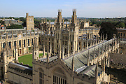 All Souls College buildings from above, University of Oxford, England, UK