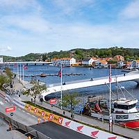 Mandal er målby for Tour of Norway sykkelritt etappe 2: Kvinesdal - Mandal.