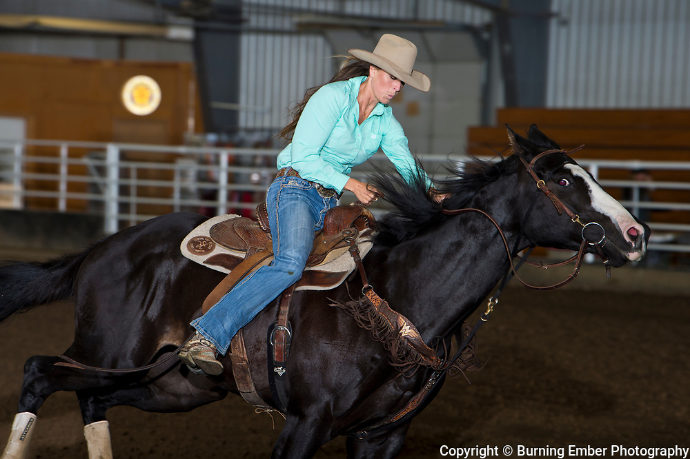 Molly Otto at the Blitz Open 5D first round barrell races. Sept 23, 2018.  Photo by Josh Homer/Burning Ember Photography.  Photo credit must be given on all uses.