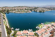 Lakefront Homes in Mission Viejo California Aerial Photo