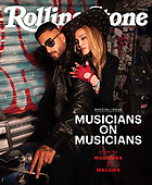 October 12, 2021 - WORLDWIDE: Madonna & Maluma Covers Rolling Stone Musicians On Musicians