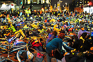 Over 1,000 Cyclists stage die-in protest outside Transport for London HQ