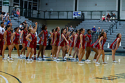 28 June 2014: ICCA All Star Cheerleaders.  2014 Boys Illinois Basketball Coaches Association All Start game at the Shirk Center in Bloomington IL