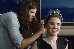 © London News Pictures. 03/04/15. London, UK. A tiara is put onto a model as part of the press preview of Sotheby's magnificent jewels sale, central London. Photo credit: Laura Lean/LNP