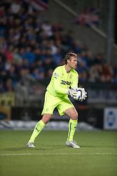 Rangers keeper Simonsen. Falkirk 1 v 3 Rangers, Scottish League Cup game played 23/9/2014 at The Falkirk Stadium.