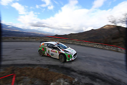 17.01.2014, Stage 10, Sisteron, FRA, FIA, WRC, Rallye Monte Carlo, 2. Tag, im Bild KREMER Armin / WICHA Klaus ( Stohl Racing (AUT) / Ford Fiesta R5 ), Aktion / Action // during Stage 10 on day two of FIA Rallye Monte Carlo held near Monte Carlo, France on 2014/01/17. EXPA Pictures © 2014, PhotoCredit: EXPA/ Eibner-Pressefoto/ Neis<br /> <br /> *****ATTENTION - OUT of GER*****