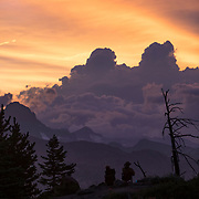 Sunset looking out across the Eastern Sierra Mountain range from Minaret Vista in Mammoth Lakes, CA.