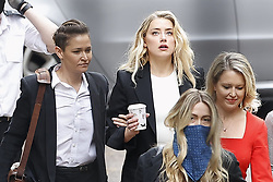 © Licensed to London News Pictures. 27/07/2020. London, UK. American actor AMBER HEARD arrives at the High Court in London, where Johnny Depp is in a legal dispute with UK tabloid newspaper The Sun over allegations he assaulted his former wife, Amber Heard. Photo credit: Peter Macdiarmid/LNP