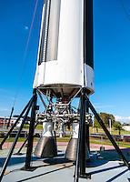 US, Florida. John F. Kennedy Space Center. Rocket Garden at the Visitor Complex. Titan II GLV (Gemini Launch Vehicle).