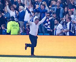 Kilmarnock's Lee Clark celebrates Kilmarnock's fourth goal. Kilmarnock 4 v 0 Falkirk, second leg of the Scottish Premiership play-off final.