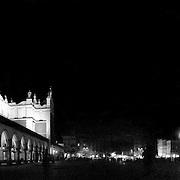 Rynek G?ówny w Krakowie (Market Square) of Krakow at night.